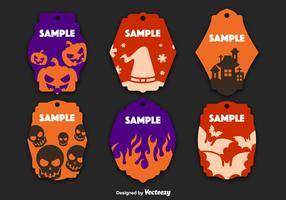 Halloween decorated tags