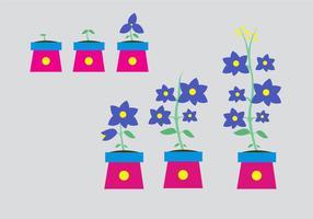 Vetor de flores em crescimento
