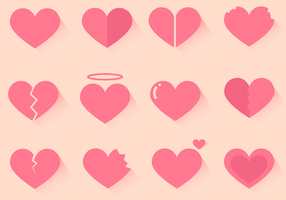 Vetor corações grátis