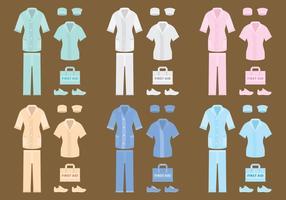 Vektor sjuksköterska kläder