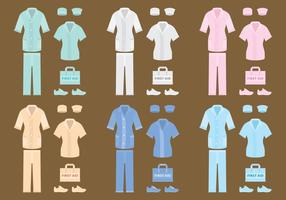 Roupa vetorial enfermeira