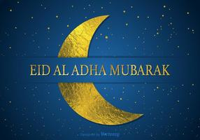Libre Eid Al Adha Mubarak vector de la tarjeta