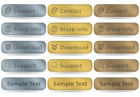 Aluminum Rectangular Buttons vector