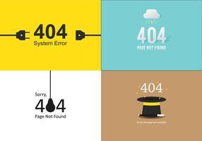 404 Template Set vector