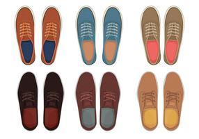 Sapatos masculinos top view
