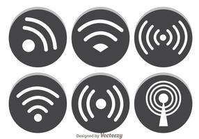 Gray Wifi Symbol vector