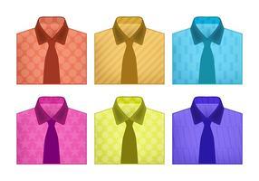 Vikta skjortvektorer