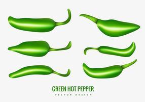 Groene hete peper
