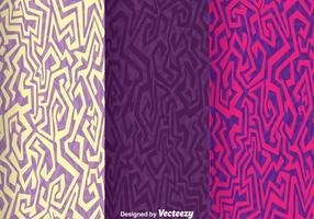 Vecteur de fond violet ethnique