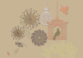 Tarjeta con dos pájaros