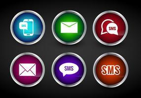 Vetor de ícones SMS