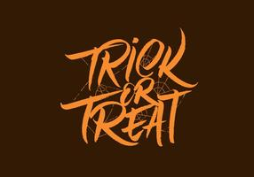 Trick Or Treat Vector Lettering