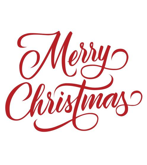 Merry Christmas Decorative Lettering Vector - Download Free Vector Art, Stock Graphics & Images