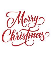 Merry Christmas Decorative Lettering Vector