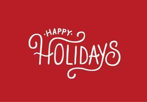 Frohe Feiertage Beschriftung Vektor