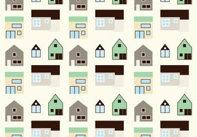 House pattern background vector