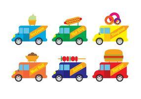 Vector do caminhão da comida