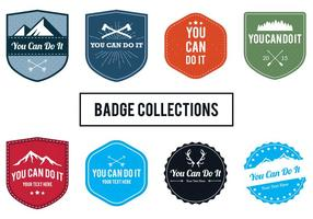 You Can Do It Badges vector
