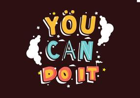 You Can Do It Illustration vector