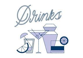 Vector de bebidas grátis