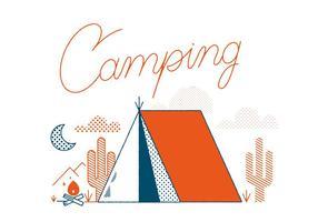 Vecteur de camping gratuit