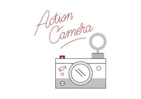 Gratis kamera vektor