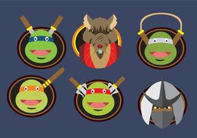 Ninja Turtles karakter badges