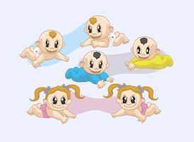 Vectores gemelos de los bebés