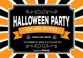 Halloween Party Card vector