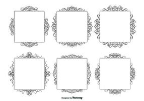 Dekorativa kalligrafiska ramar Set