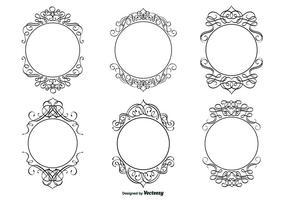 Decoratieve Kalligrafische Frame Set