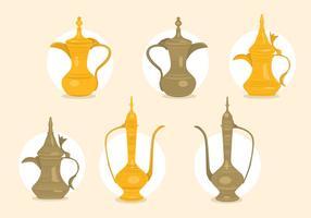 Vectores de cafetera árabe