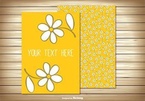 Gulligt blom- hälsningskort