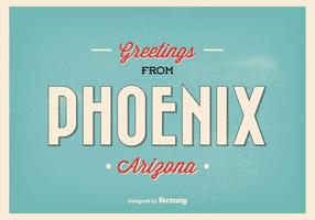 Phoenix Retro Greeting Illustration