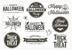 Typografische Halloween Labels