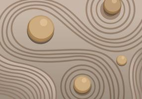 Zen tuin zand vector
