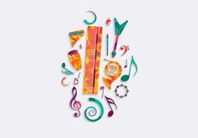 Vecteur de fond gratuit de musique