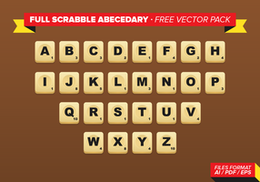 Voller Scrabble Abecedary Free Vector Pack