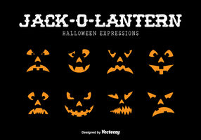 Jack-o-lantern expressions
