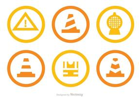 Under Construction Circle Icons