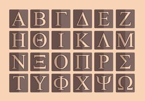Griechisches Alphabet Vector Pack