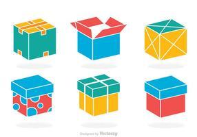Vecteur boîte colorée