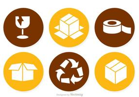 Packaging Circle Icons vector