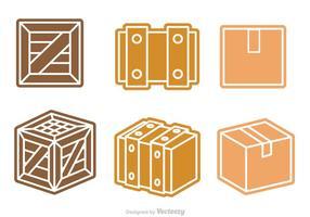 Vecteur de boîte et de caisse