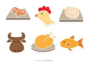 Art von Fleisch Vektor