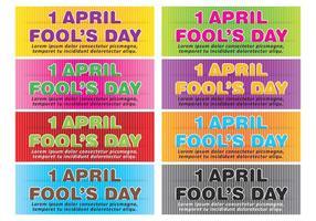 April Fools Banner Vectors