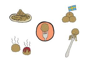Free Meatball Vector Series
