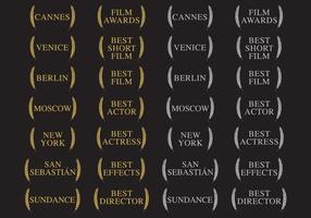 Winners And Film Awards vector