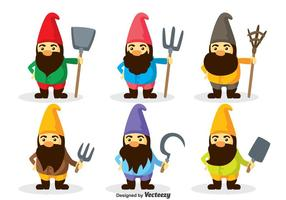 Gnome Personagens Vector