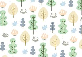 Leaves and trees pattern background vector